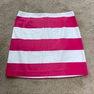 Vineyard Vines pink & white striped skirt size 4